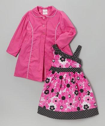 Hot Pink Floral Dress & Jacket - Infant, Toddler & Girls