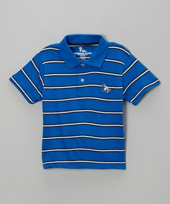 Blue Stripe Polo - Toddler & Boys