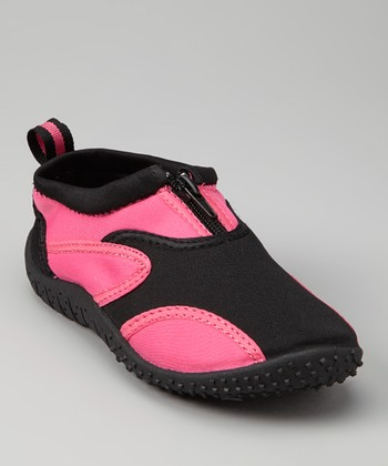 Black & Magenta Aqua Fire Water Shoe