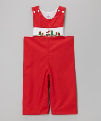 Red Santa John Johns - Infant & Toddler