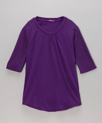 Poppy Purple Raglan Tee - Girls
