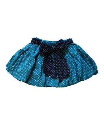 Teal Polka Dot Bubble Skirt - Infant, Toddler & Girls