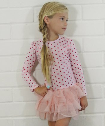 Pink Polka Dot Tutu Dress - Girls