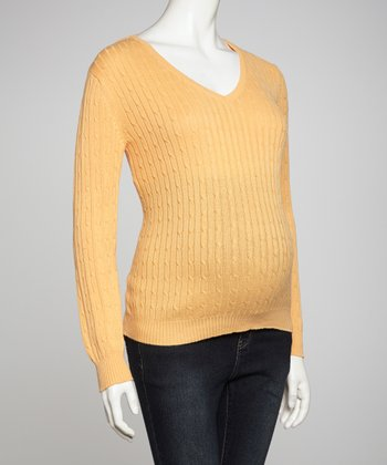 Melon Maternity V-Neck Sweater - Women