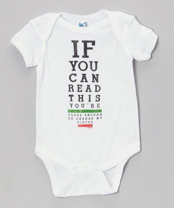 White 'If You Can Read This' Bodysuit - Infant