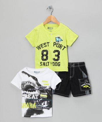 Green 'West Port' Shorts Set - Toddler
