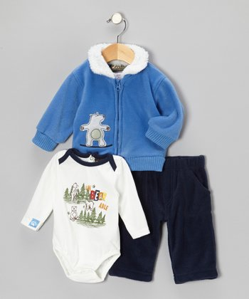 Blue Polar Bear Jacket Set - Infant