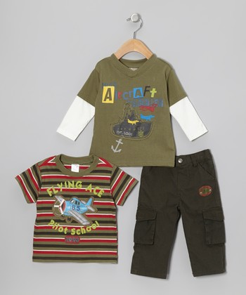 Green Layered Top Set - Infant