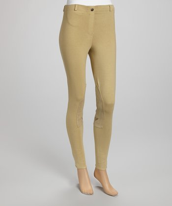 Light Tan Pull-On Pants - Women
