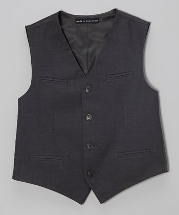 Dark Heather Charcoal Fine Line Twill Vest