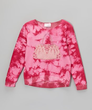 Pink Purse Tie-Dye Fleece Sweatshirt