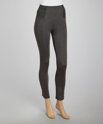 Dark Gray Ponte Pants