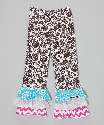 Cocoa Floral Ruffle Pants - Infant, Toddler & Girls
