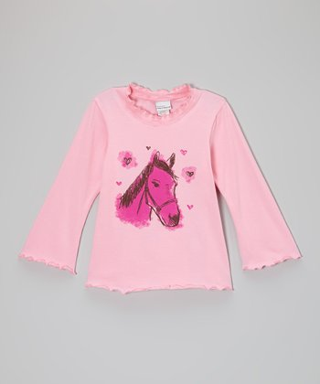 Pink Horse Tee - Infant, Toddler & Girls