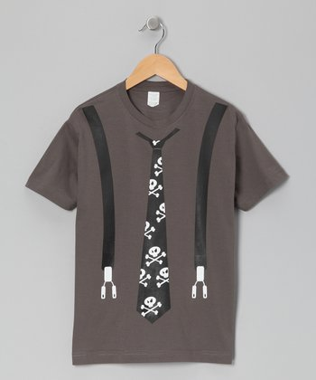 Charcoal Suspender Tee - Toddler & Boys