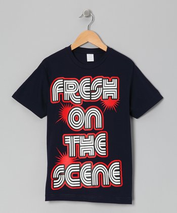 Black 'Fresh on the Scene' Tee - Toddler & Boys
