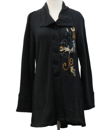 Black Embroidered Talia Jacket