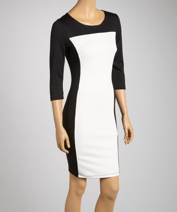 Black & White Color Block Dress