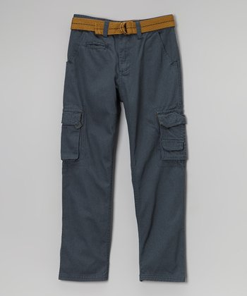 Gray Belted Cargo Pants - Toddler & Boys