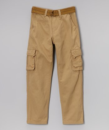 Khaki Belted Cargo Pants - Toddler & Boys