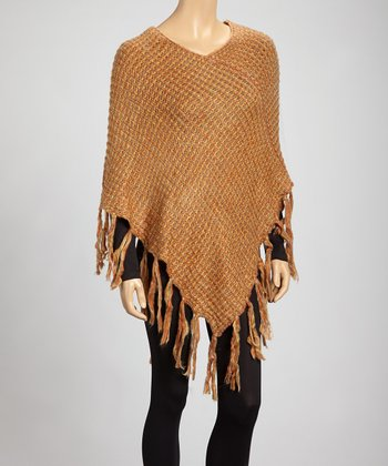 Orange Jill Poncho