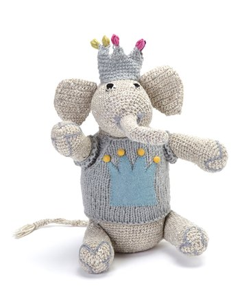 Blue Elephant Wool Toy