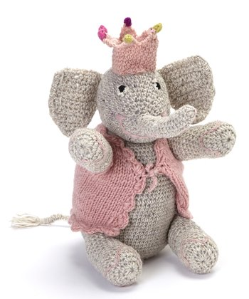 Pink Elephant Wool Toy