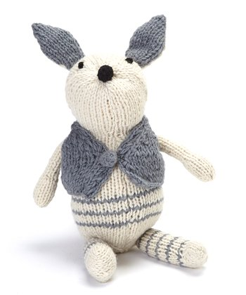 Blue & White Rabbit Wool Toy