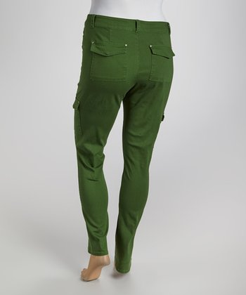 Topiary Olive Cargo Pants - Plus