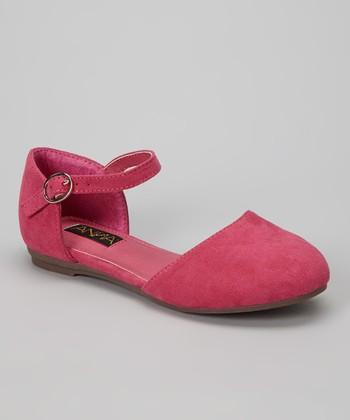 Anna Shoes Fuchsia Buckle Vera Flat