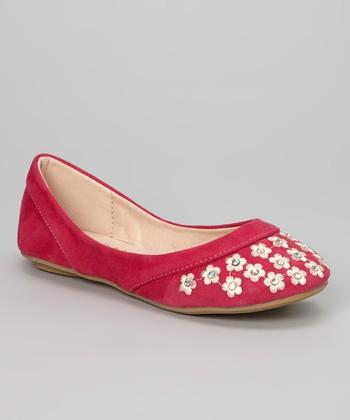 Anna Shoes Fuchsia Blossom Mina Flat