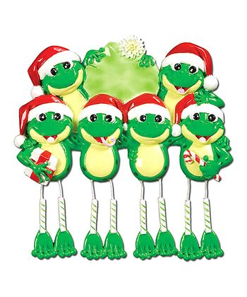 Six-Frog Dangle Leg Christmas Ornament