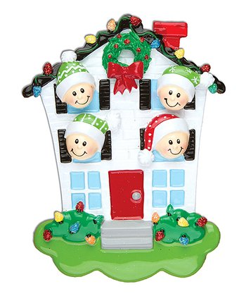 Four-Person House Christmas Ornament