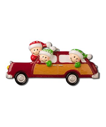 Three-Person Car Christmas Ornament