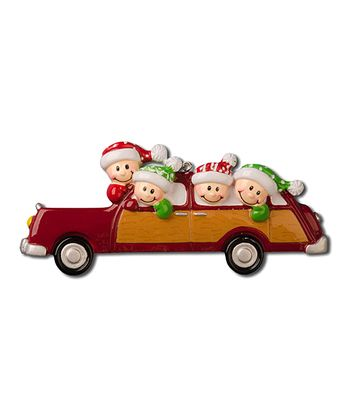 Four-Person Car Christmas Ornament