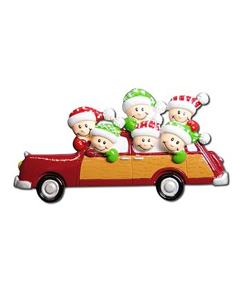 Six-Person Car Christmas Ornament