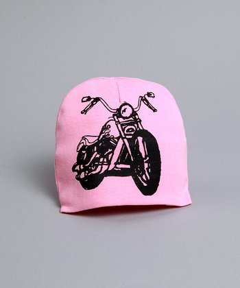 pinkaxle - Pink Hat with Black Motorcycle
