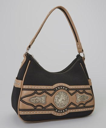 Black & Tan Rhinestone Hobo