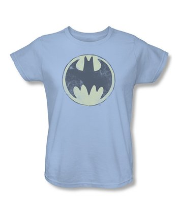 Light Blue Vintage Bat-Signal Tee - Women & Plus