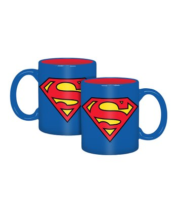 Superman Logo Mug - Set of Four