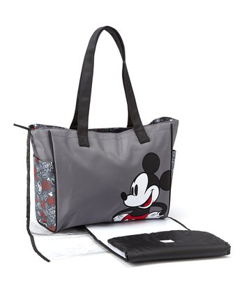 Gray Mickey Graffiti Diaper Bag