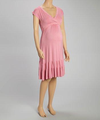 Belabumbum Rose Maternity & Nursing Ruffle Dress