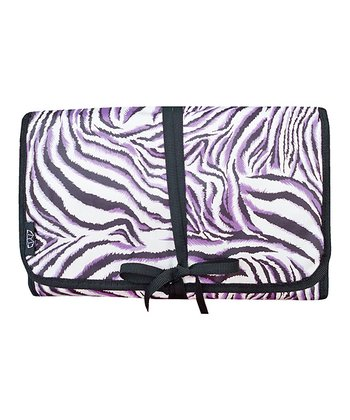 Purple & White Zebra Hanging Travel Kit