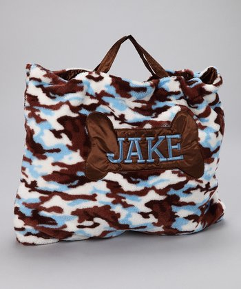OC Daisy Blue Camo Dog Personalized Napbag