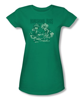 Kelly Green Strawberry Shortcake 'Homegrown Buds' Tee - Girls