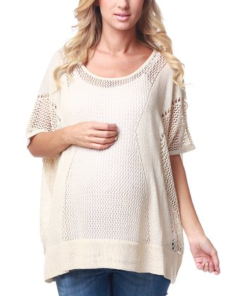 Ivory Knit Maternity Top