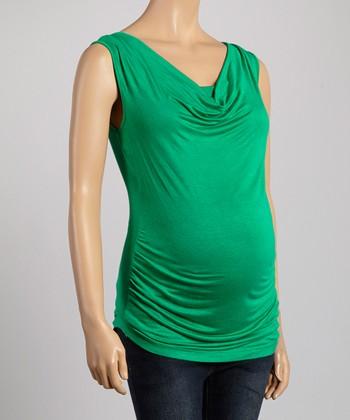 Mom & Co. Emerald Maternity & Nursing Drape Top - Women & Plus