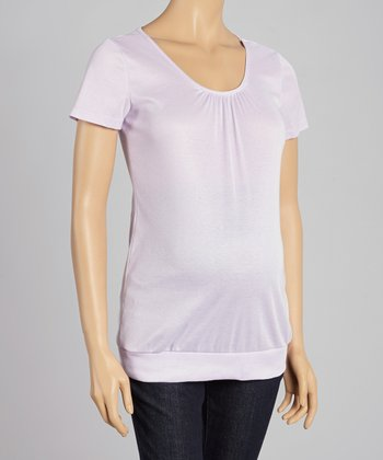 CT Maternity Orchid Shirred Maternity Scoop Neck Top - Women