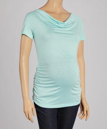 CT Maternity Mint Julep Maternity Drape Neck Top - Women