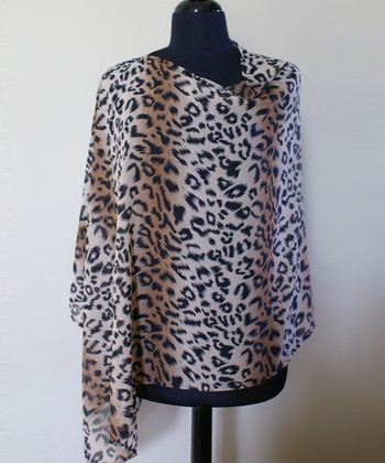 CoverMyHeart Leopard Nursing Scarf